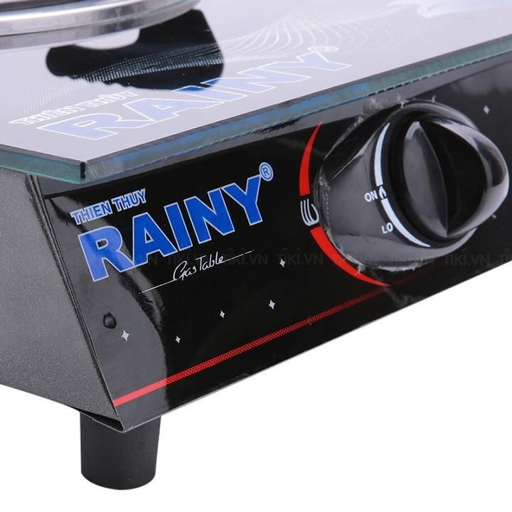 Bếp Gas Đơn mặt kính Chén Nhôm Rainy hoa văn và màu sắc ngẫu nhiên - RN-109TT - Hàng Chính Hảng