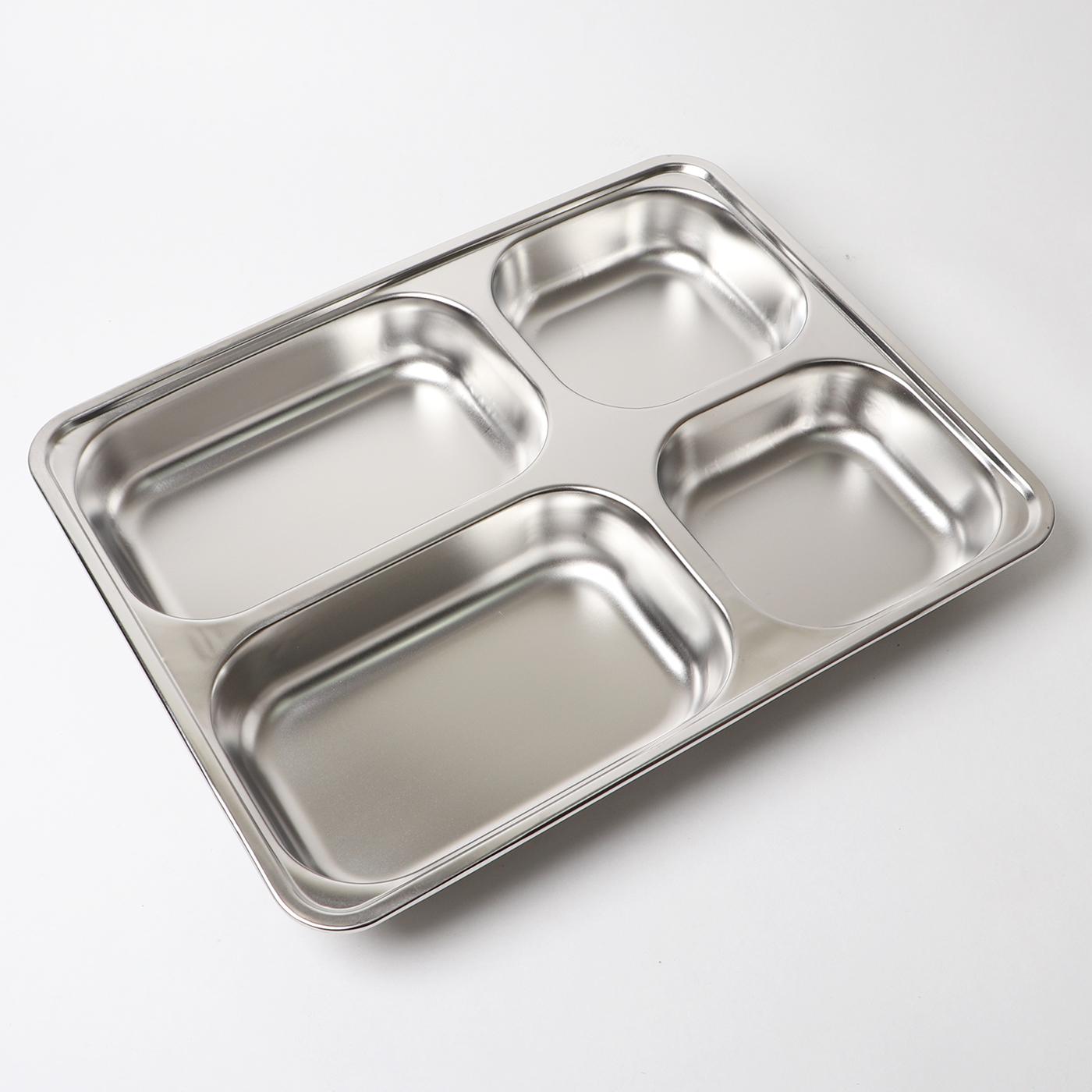 Khay đựng cơm 4 ngăn inox sáng bóng cao cấp KDC01 – Gia dụng bếp