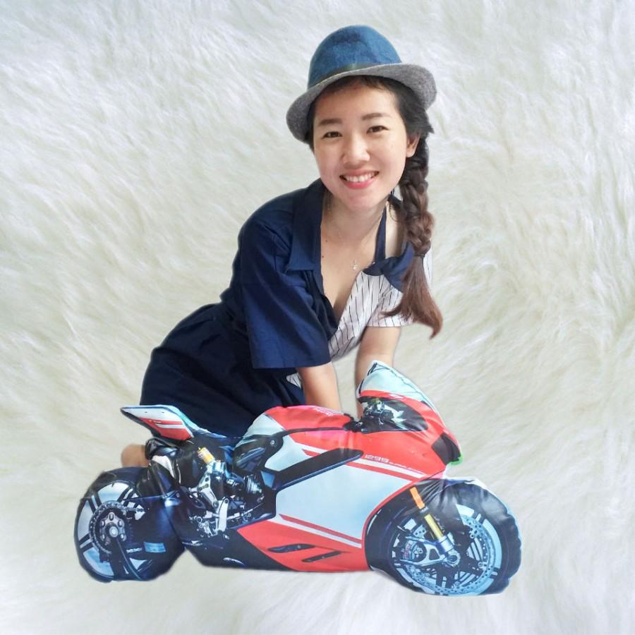 Gối Ôm 3D Xe Ducati (75cm)