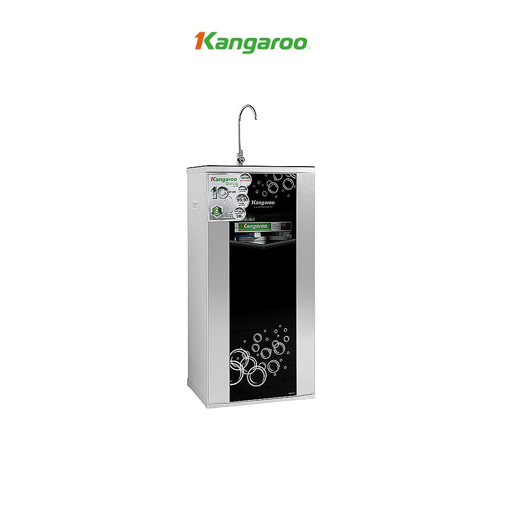 Máy lọc nước Hydrogen Kangaroo Superstyrene RO 10 lõi vỏ tủ VTU màu đen KG10G5 - Hàng chính hãng