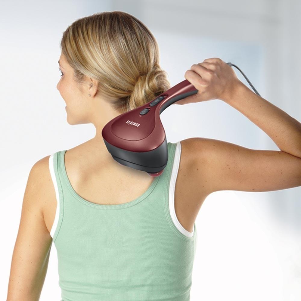 Máy massage cầm tay USA hai đầu Kèm nhiệt HoMedics Thera-P Percussion Massager with Heat nhập khẩu USA