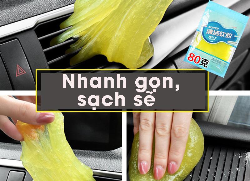 Gel vệ sinh làm sạch khe kẽ bàn phím laptop, đàn, máy ảnh, làm sạch nội thất ô tô, xe hơi- Giao màu ngẫu nhiên MH212