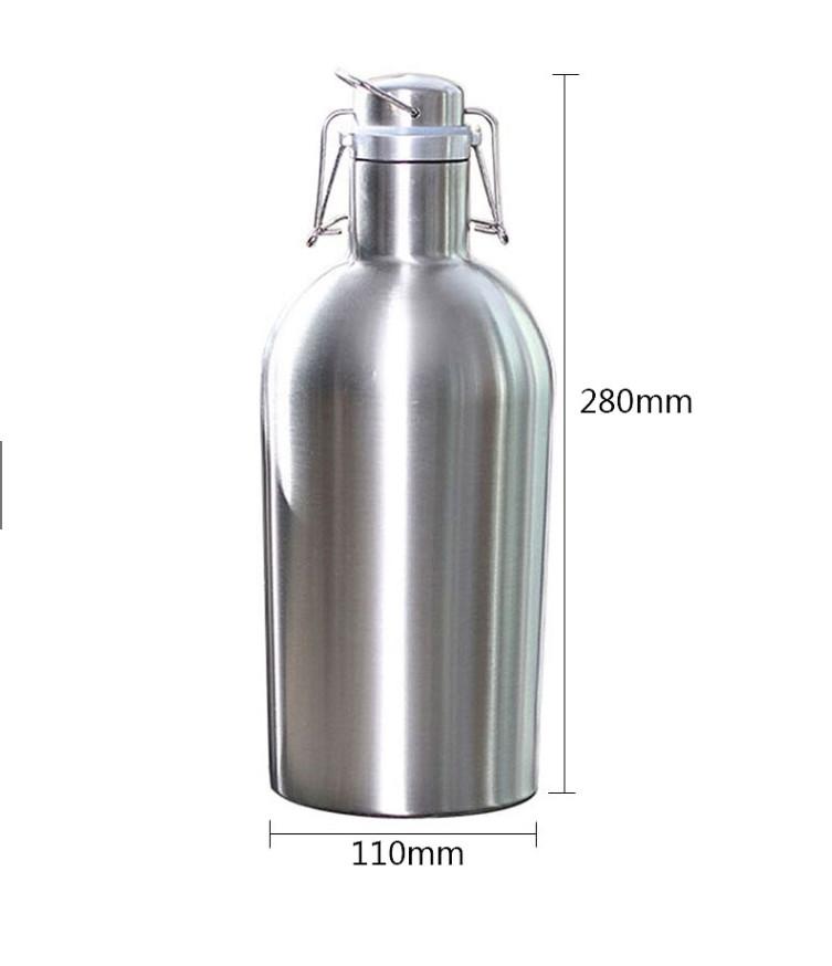 Bình Ủ Bia INOX 304 Dung Tích 2L