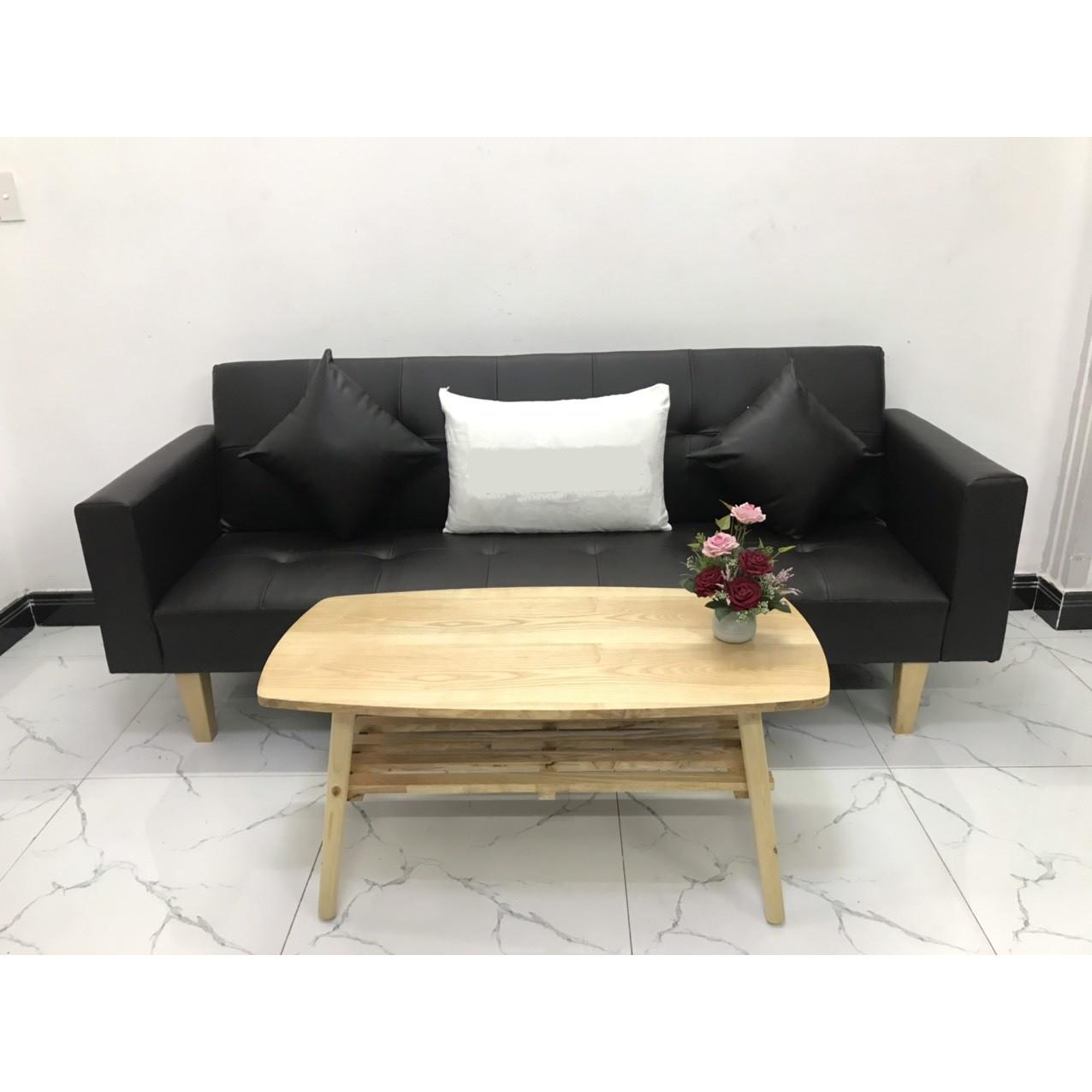 Bộ ghế sofa giường sofa bed tay vịn phòng khách linco07 sopha