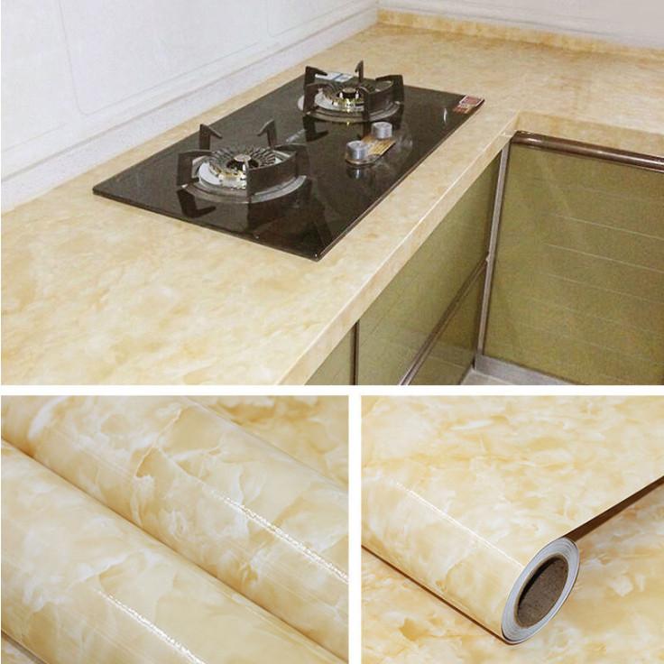 Giấy dán trang trí bếp vân đá  HR (300cm*60cm) - Giao màu ngẫu nhiên