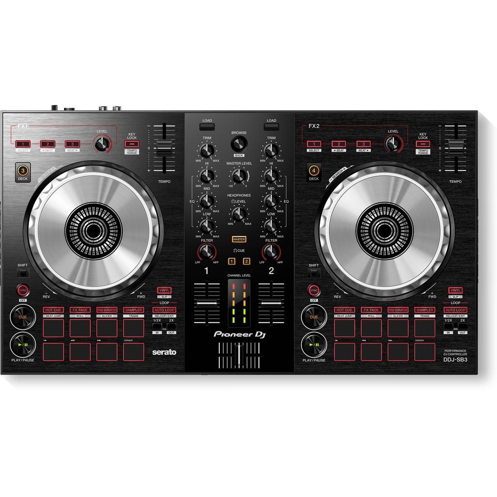 Máy DJ Controller DDJ-SB3 (Pioneer DJ) sử dụng Serato DJ - Hàng Chính Hãng