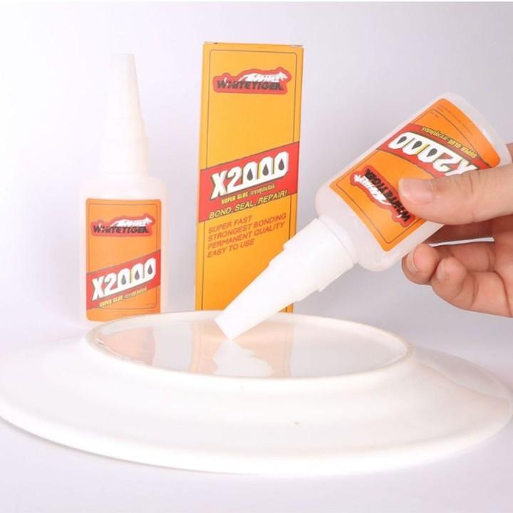 Keo dán X2000 siêu dính đa năng, dán tất cả vật liệu bằng gỗ, thủy tinh, dán nhựa an toàn với da tay