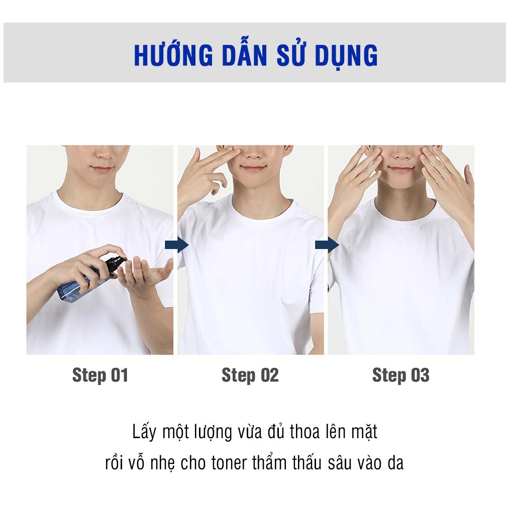Bộ đôi chăm sóc da cho nam DASHU Sữa rửa mặt + Nước cân bằng da chính hãng Hàn Quốc JN-CSD02