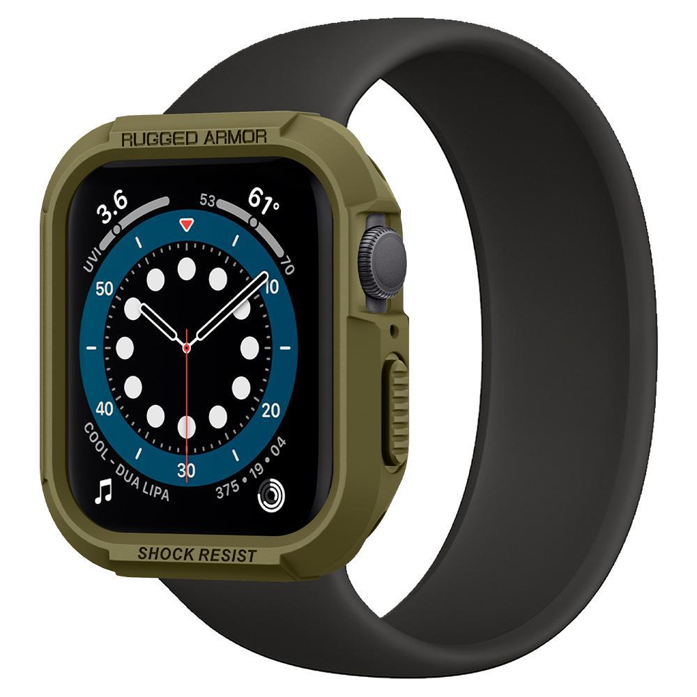 Ốp Spigen Rugged Armor cho Apple Watch Series SE / 6 / 5 / 4 (40mm) màu xanh - Hàng chính hãng