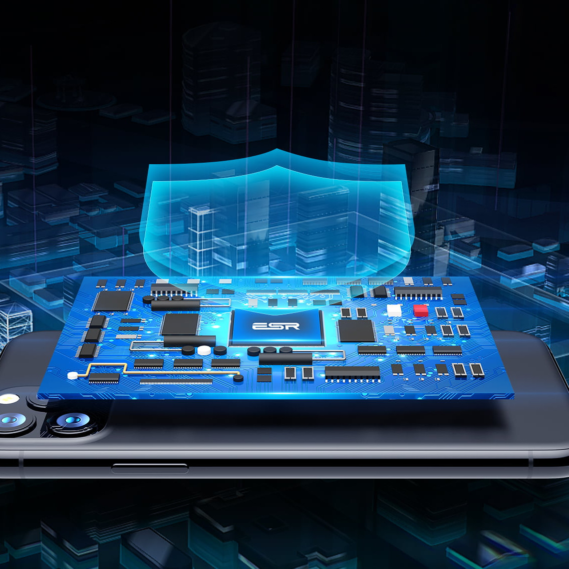 Quạt Tản Nhiệt Làm Mát Di Động Cao Cấp ESR Mobile Phone Cooling Fan cho Smartphone / iPhone / Samsung / Xiaomi / Sony / Oppo / Huawei / OnePlus - Hàng Nhập Khẩu