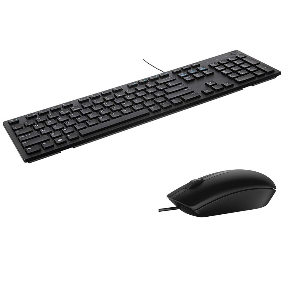 Bộ phím chuột có dây Dell - Phím KB216 + Chuột MS116 - Hàng chính hãng