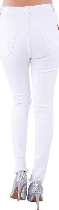 Quần Jeans Kaki Nữ Rách JKKN003 - Trắng