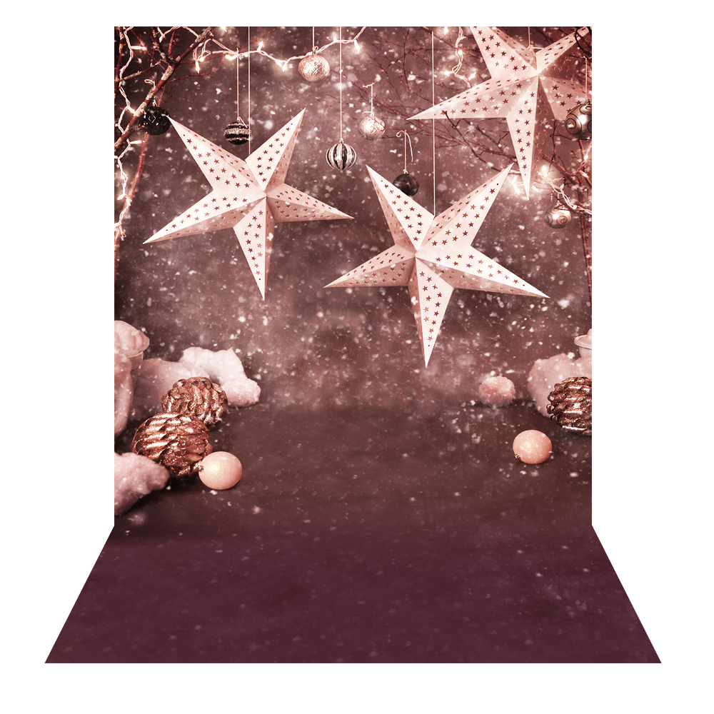 Andoer 1.5 x 2m Photography Background Backdrop Christmas Gift Star Pattern For Children Kids Baby Photo Studio Portrait Shooting 10153 1.5 x 2m
