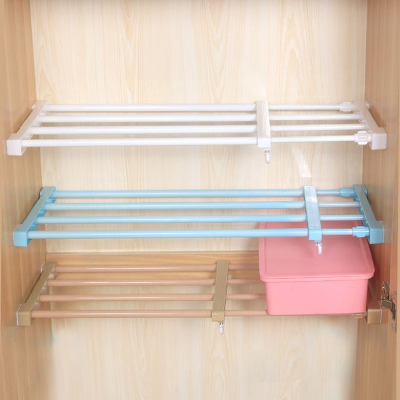 Kệ để đồ đa năng không cần khoan vít, chịu lực tốt, tiện lợi trong tủ bếp, tủ quần áo KDN