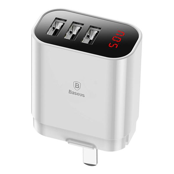 Bộ Sạc Đa Năng Baseus Baseus Mirror Lake 3 Ports USB LV295 - Hàng Chính Hãng