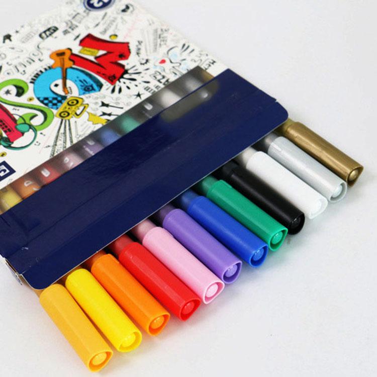 Bộ Bút Màu Đa Năng, Vẽ trên nhiều chất liệu 12 màu