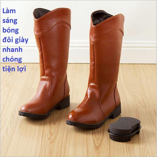 Xi mút đánh giày, mút lau sạch bóng giày dép, túi xách đa năng, chuyên đánh bóng đồ da tiện lợi an toàn và dễ dàng sử dụng GD238-XiMutDG