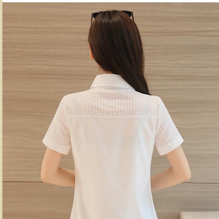 Áo sơ mi nữ công sở tay ngắn AN01A