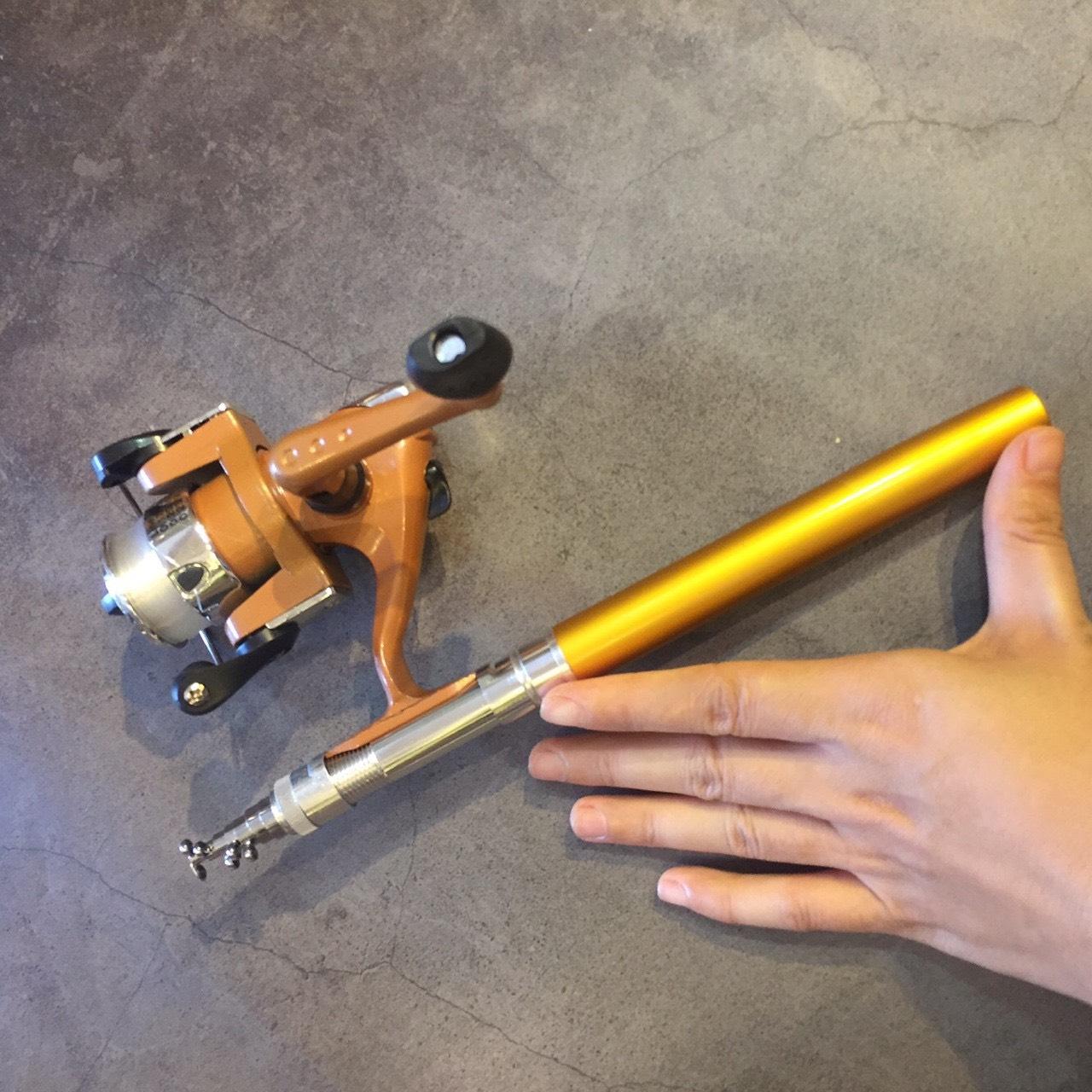 [TIỆN LỢI] COMBO bộ cần câu bút bi mini kèm máy câu 1m/1m4 (máy câu đã quấn sẵn dây cước), cần câu bút máy đứng câu tôm câu mực thu nhỏ siêu nhẹ, mua can cau but