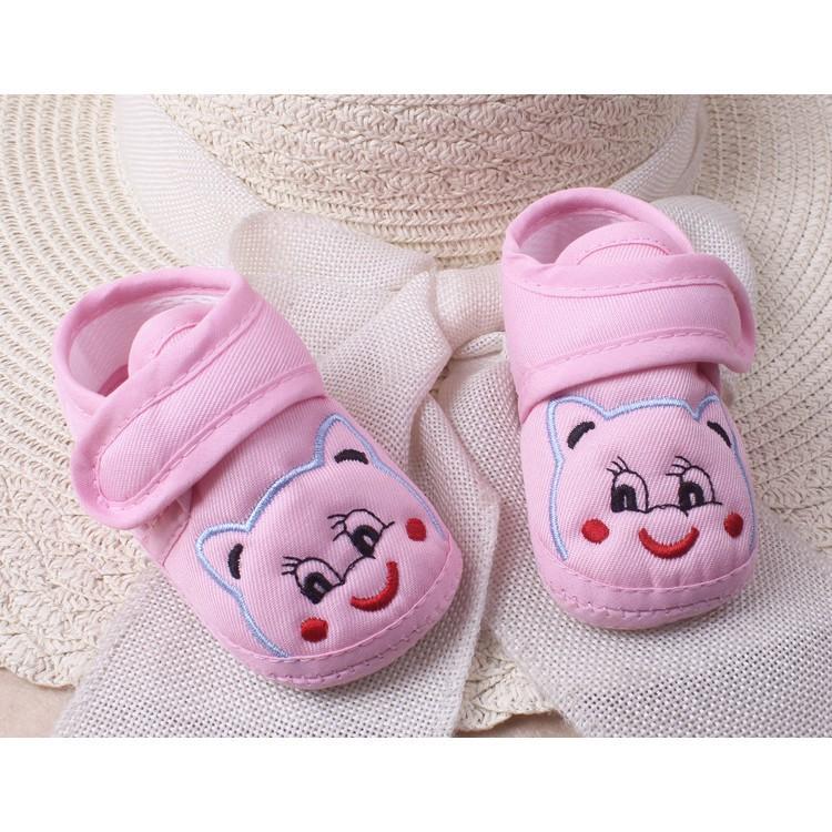 Giày tập đi cho bé   có đế trống trượt, dép vải nhẹ nhàng chất mềm mại, HÀNG ĐẸP