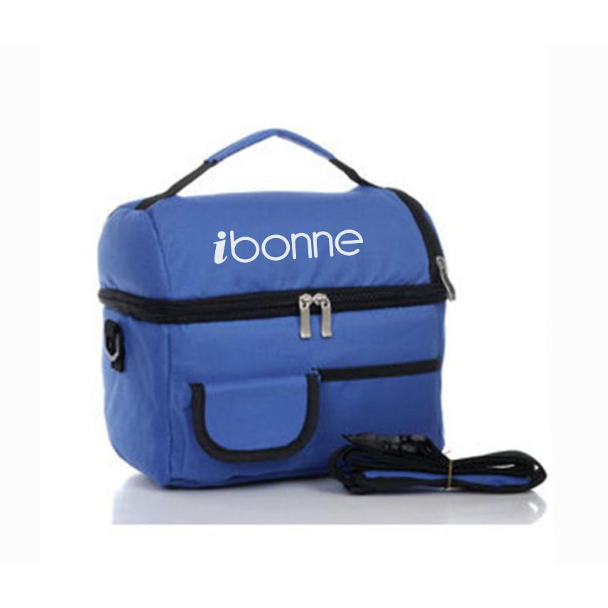 Túi đựng hộp cơm giữ nhiệt 2 ngăn lót bạc IBONNE Chống thấm