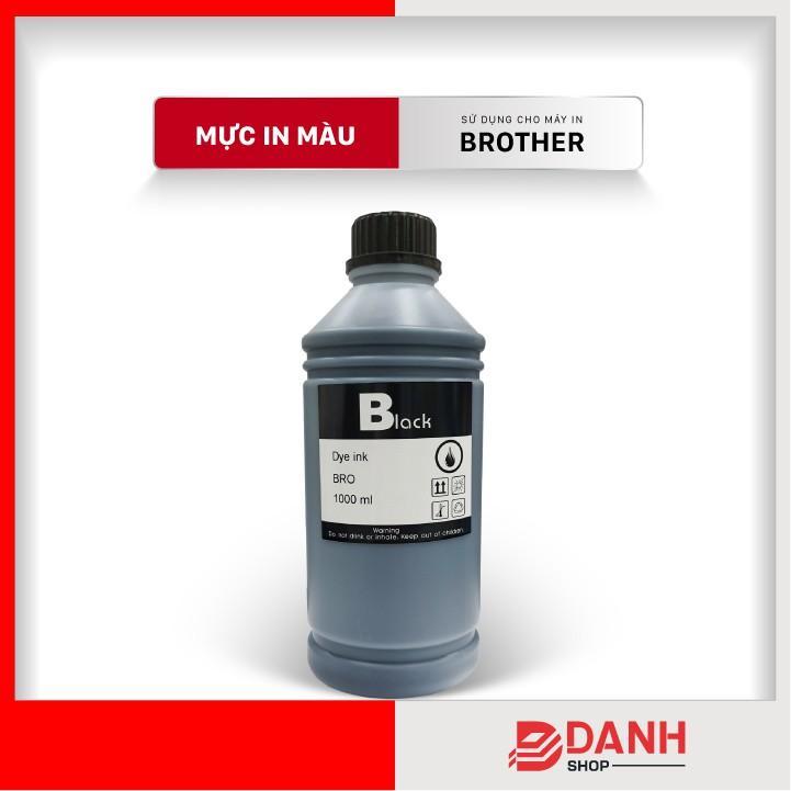 Bộ 4 CMYKb_Mực nước máy in màu cho BROTHER T300, T310,T500, T510W, T700,T710W, T810W, T910W, T4000, T4500DW-Chai 1L