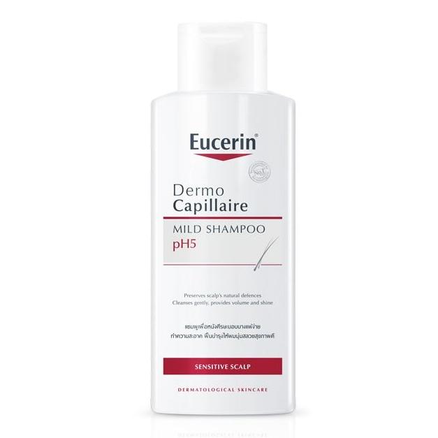 Dầu Gội Cân Bằng pH Cho Tóc Eucerin Dermo Capillaire pH5 Mild Shampoo (250 ml)