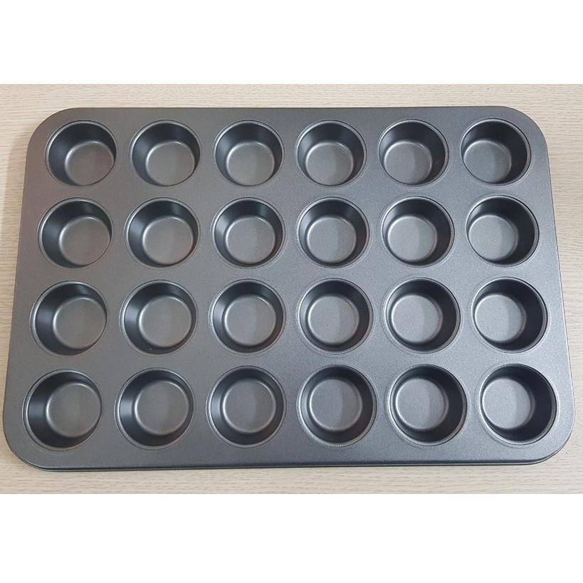 khuôn chống dính nướng bánh cupcake 24 ô mini