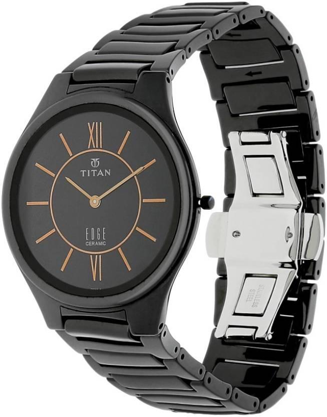 Đồng hồ đeo tay  Nam dây Ceramic Titan 1696NC01