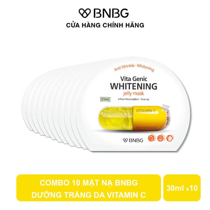 Combo 10 Mặt Nạ BNBG Dưỡng Trắng Da Vita Genic Whitening Jelly Mask 30ml x10