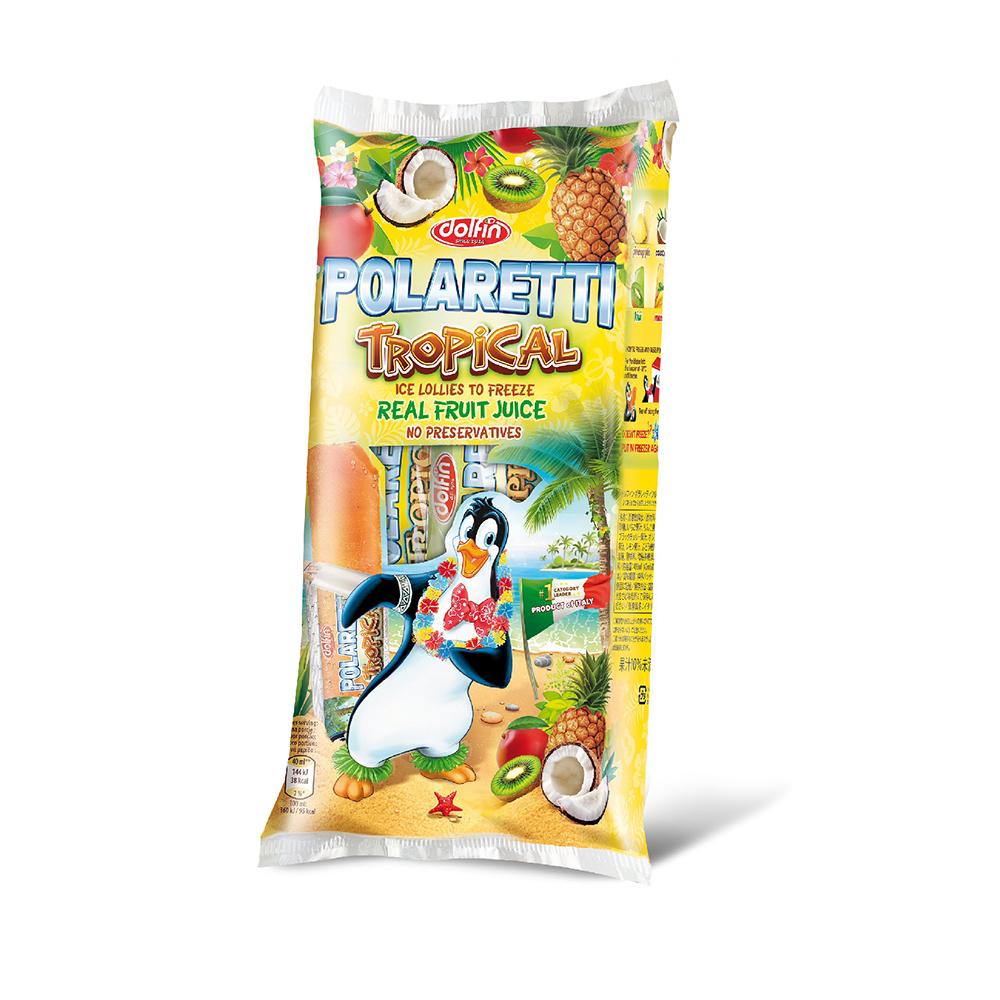 Nước kem trái cây nhiệt đới Polaretti 10 x 40ml, gồm nước ép trái cây nguyên chất, nhập khẩu Ý