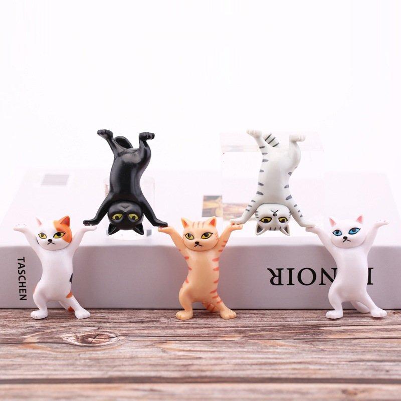 Mô hình combo 5 chú mèo tạo hình cute trang trí sáng tạo
