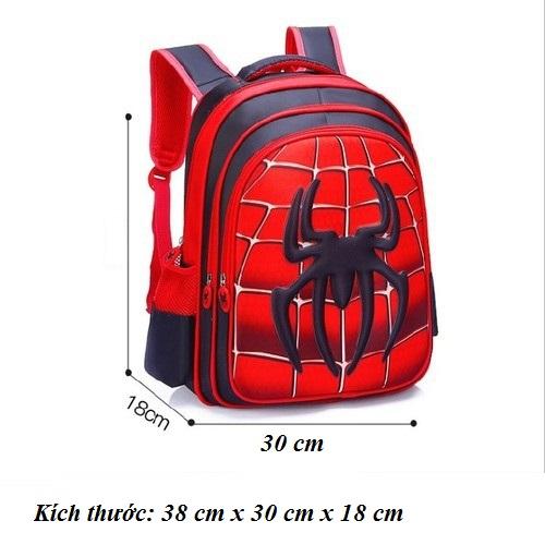 Balo học sinh hình nhện chống thấm nước cao cấp - Size 38cm