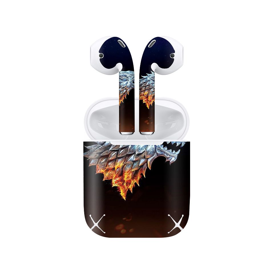 Miếng dán skin chống bẩn cho tai nghe AirPods in hình Game Of Throne - 008 (bản không dây 1 và 2)
