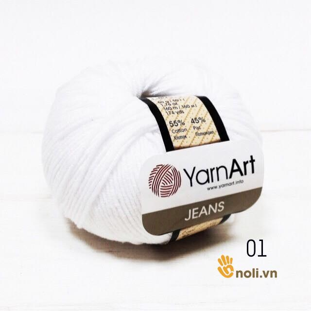 Len Jeans - YarnArt (Mã 01 đến 42)