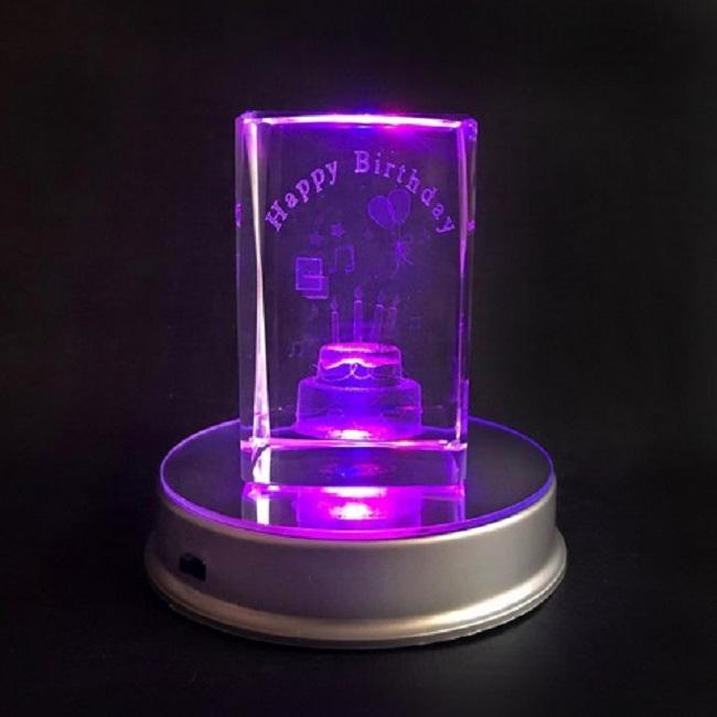 Đèn Pha lê 3D Happy Birthday (Quà Sinh Nhật)