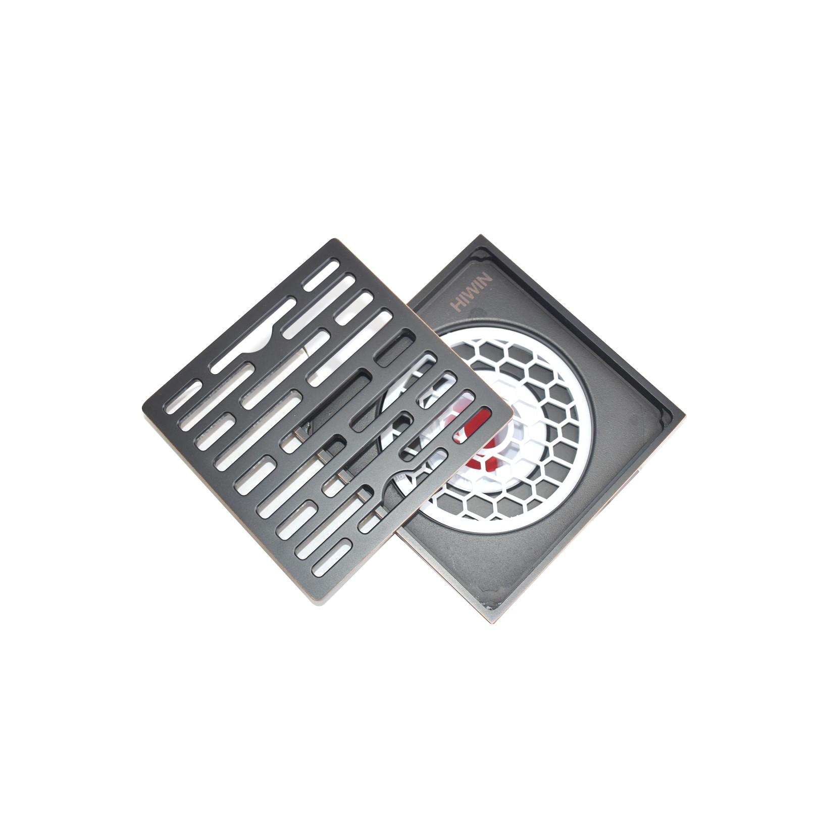 Thoát sàn ngăn mùi bằng đồng mạ đen sần sang trọng Hiwin FD-1408