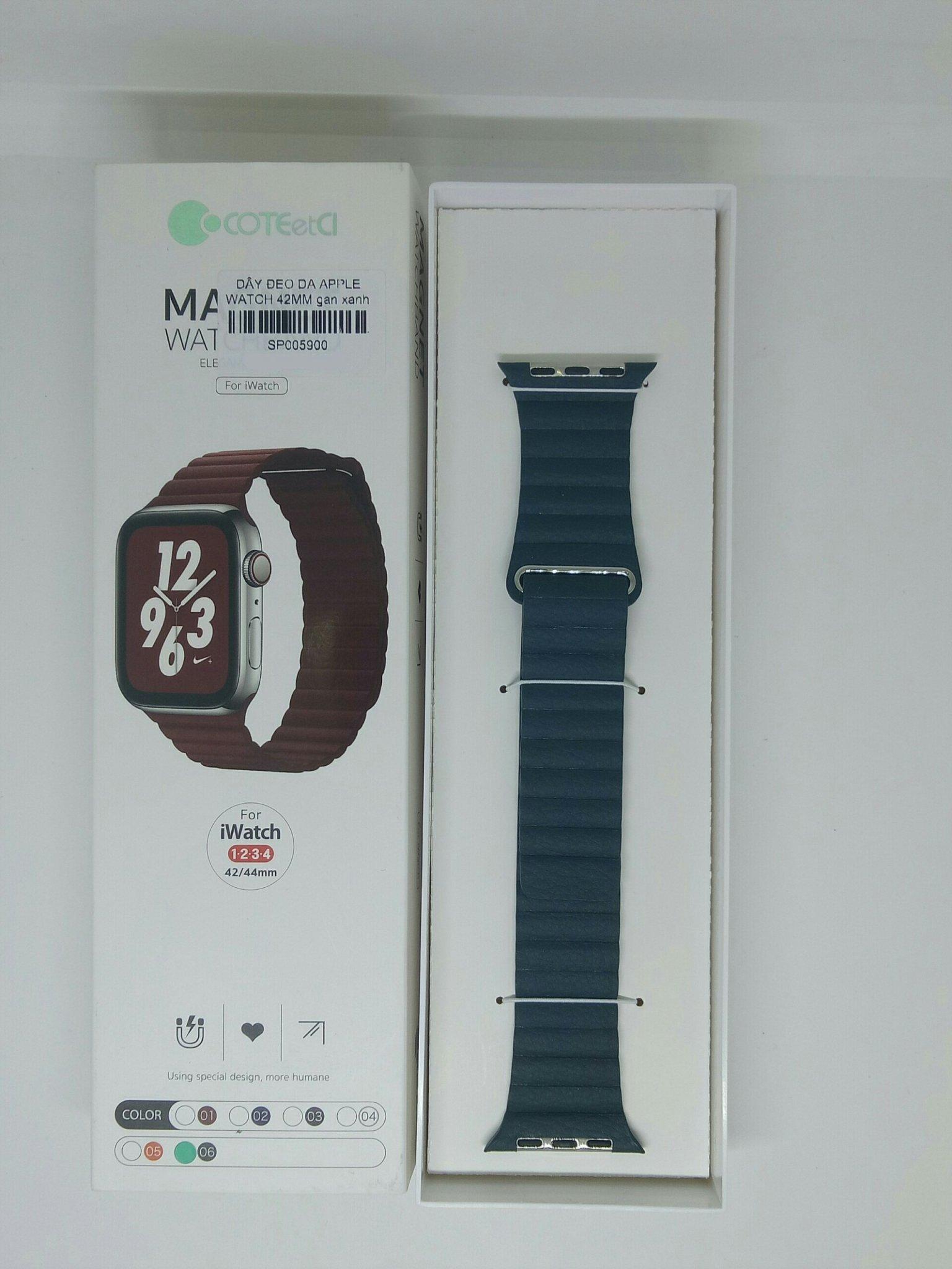 Dây đeo thay thế Apple Watch - 38mm/40mm/42mm/44mm - Coteetci - Da cao cấp - Hàng nhập khẩu