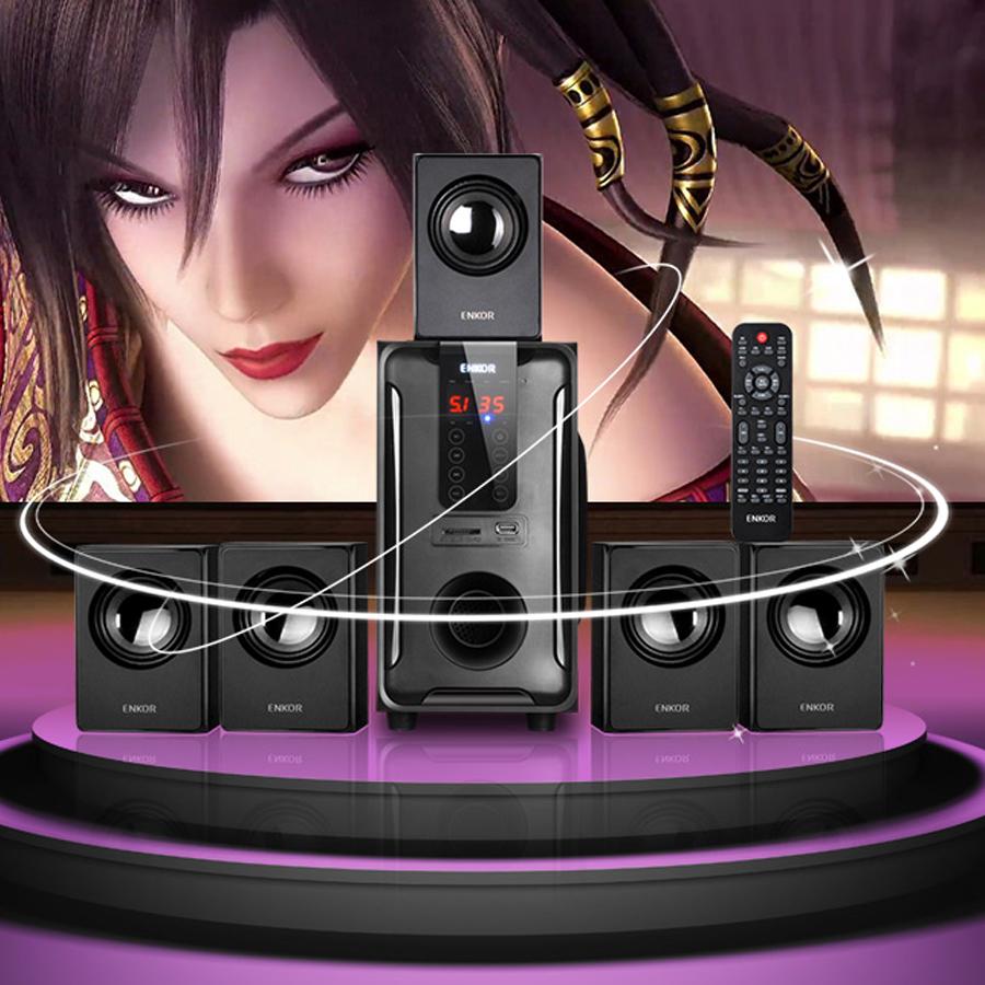 Combo Dàn Loa Gia Đình Cao Cấp 5.1 H3811B Kết Nối 3.5mm/Bluetooth/USB/SD card/Radio + Tặng Bàn Phím Chuột Đèn Led MS1061