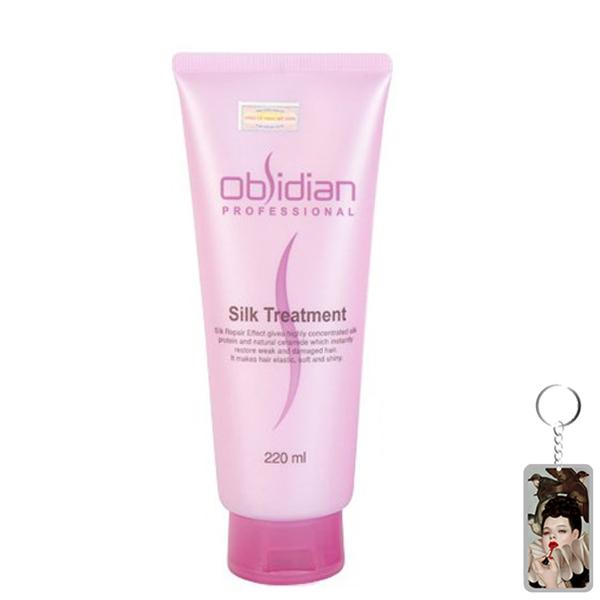Hấp dầu dưỡng tóc siêu mềm mượt Obsidian Silk Treatment 220ml tặng kèm móc khóa