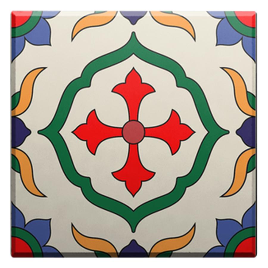 Set 6 Đế Lót Ly Gốm Vuông Mika Coaster J-001-047-S-V