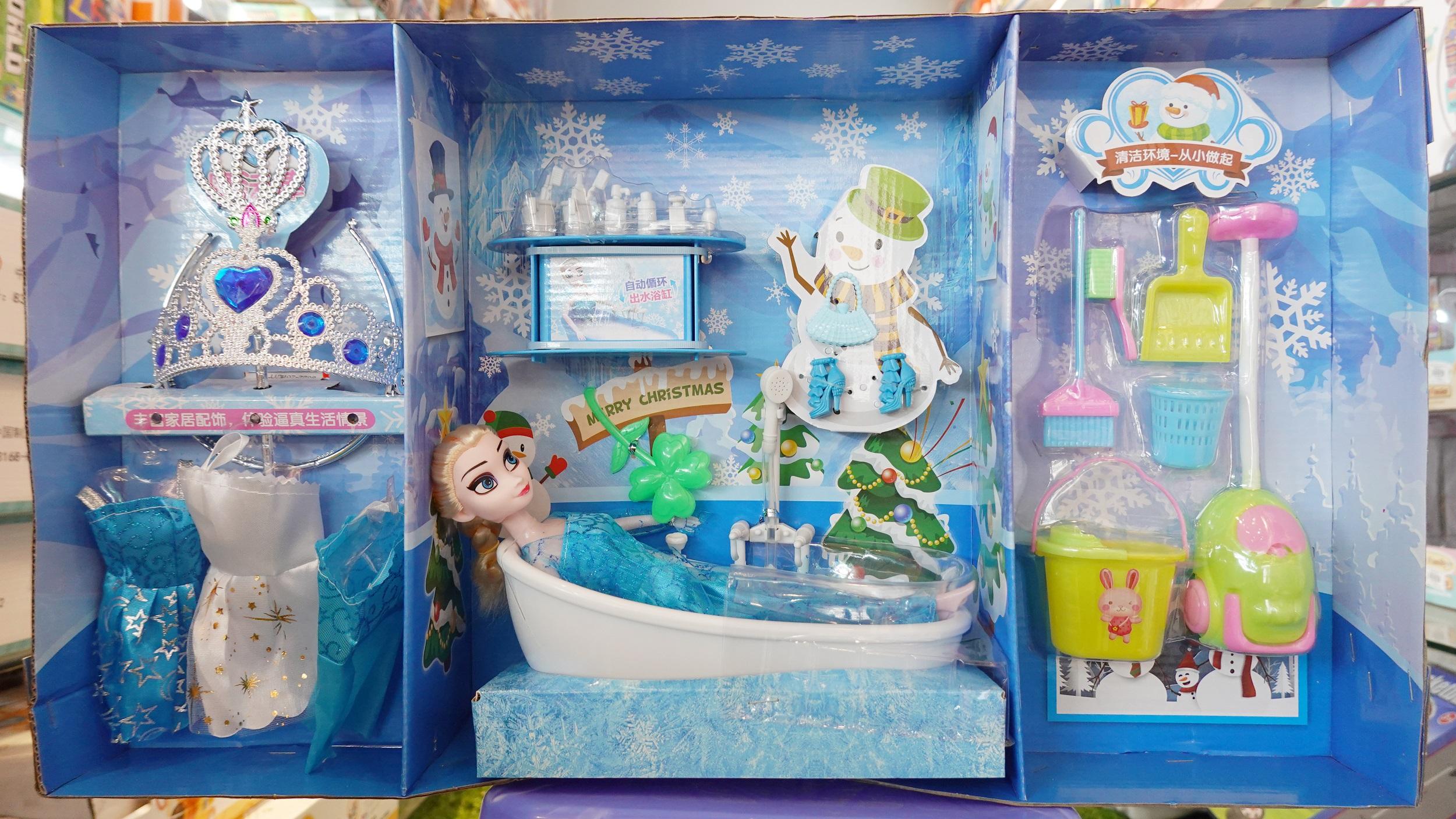 Búp bê Elsa Bồn Tắm và Phụ kiện thời trang