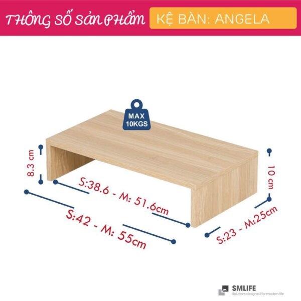 Kệ để bàn gỗ hiện đại SMLIFE Angela