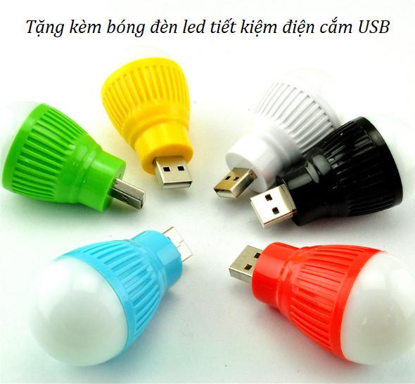 Đồng hồ để bàn đổi màu ánh sáng ( Tặng kèm 01 bóng đèn tiết kiệm điện Cắm USB ngẫu nhiên )
