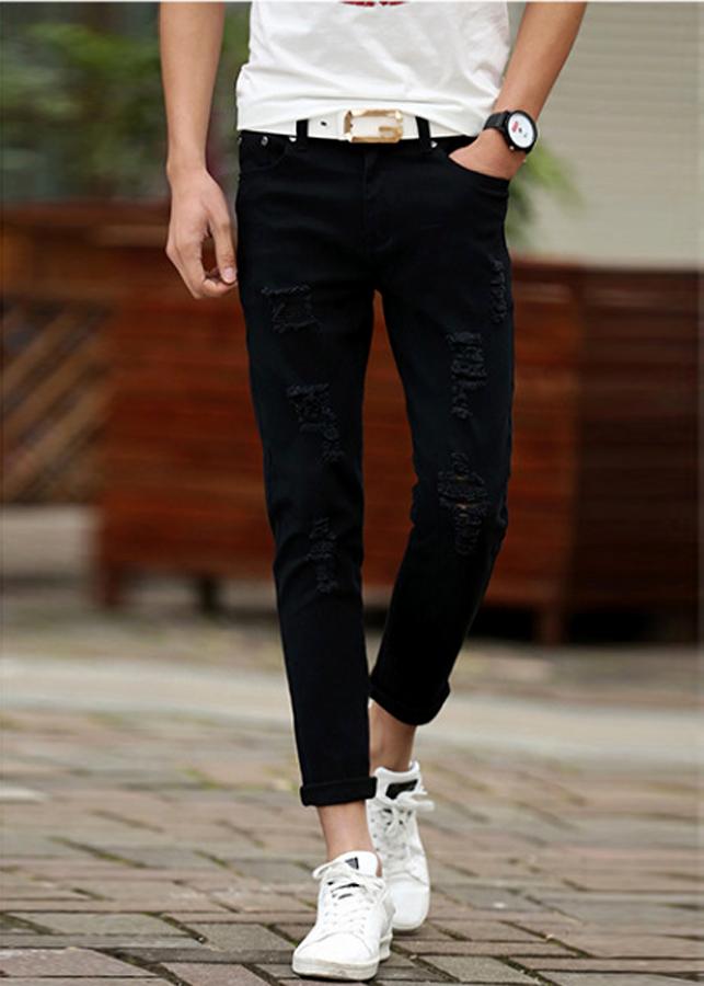 Quần jeans nam đậm chất bụi cho các bạn nam 135 - Đen - 34