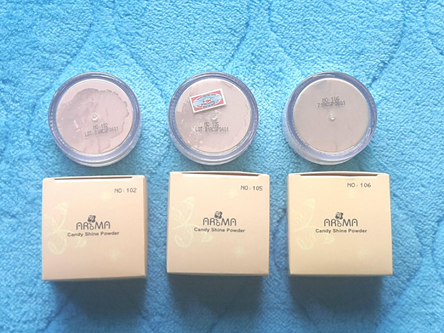 Phấn phủ bột kiềm dầu Aroma Candy Shine Powder Hàn Quốc 10g No.105 Da tự nhiên tặng kèm móc khoá