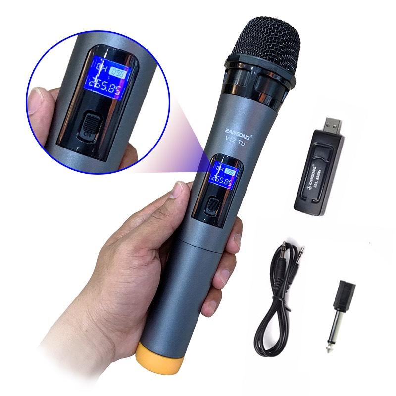 Mic karaoke đa năng có Bluetooth Zansong V12 JL - Hàng chính hãng