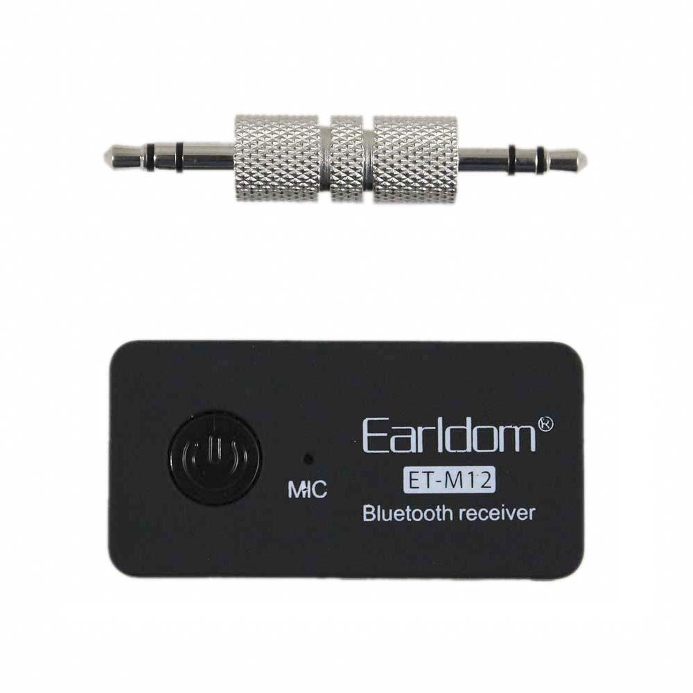 Earldom Bluetooth Receiver ET-M12 - Thiết bị biến loa thường, tai nghe thường thành Bluetooth - Hàng Nhập Khẩu