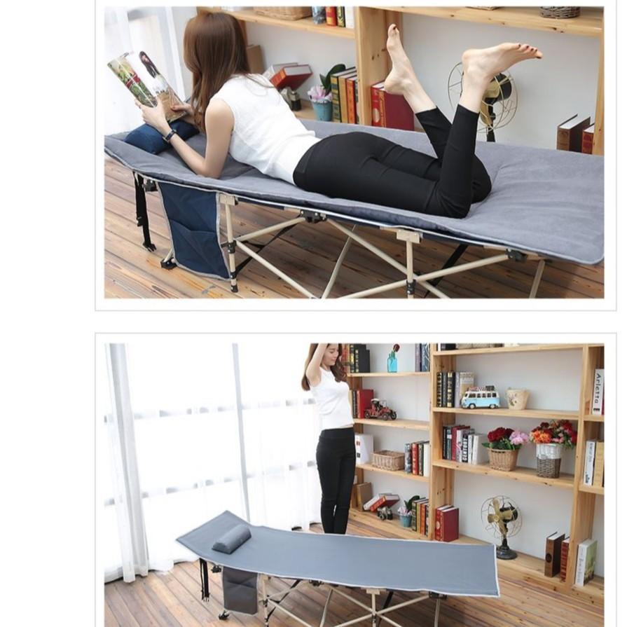 Giường gấp giường xếp ngủ văn phòng siêu tiện lợi ZDC (giao màu ngẫu nhiên)