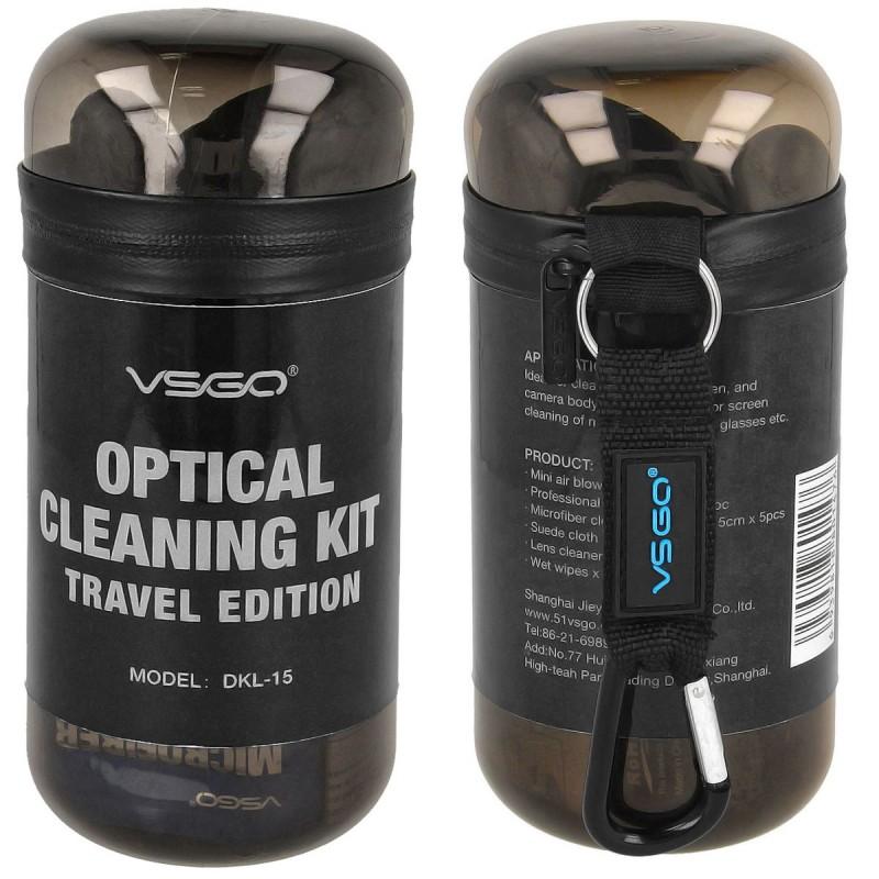 Bộ dụng cụ làm sạch ống kính máy ảnh VSGO Travel Edition DKL-15, nhiều màu
